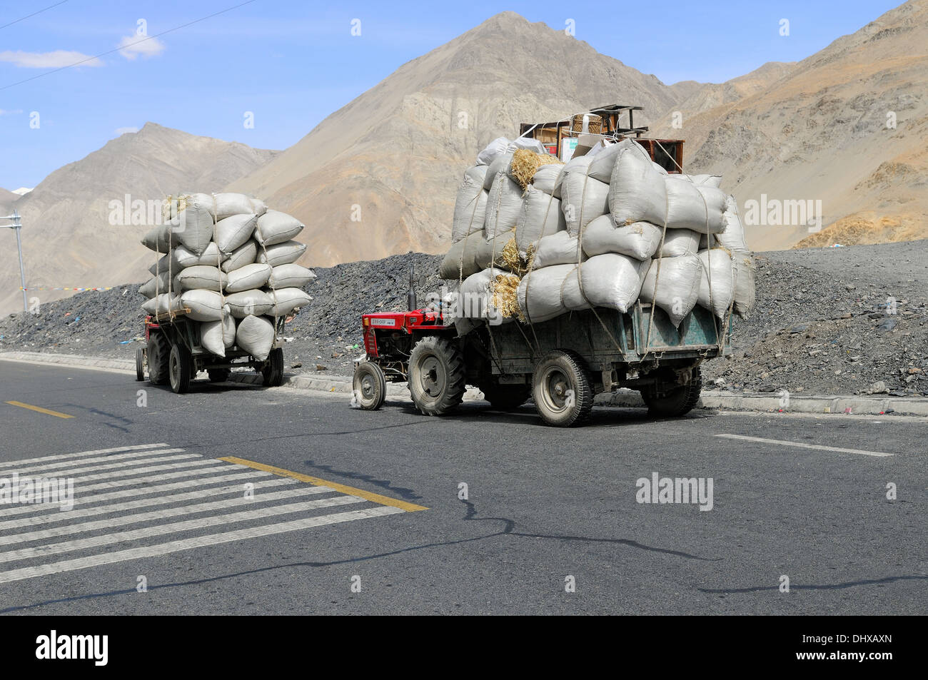 Transport in Tibet - Stock Image