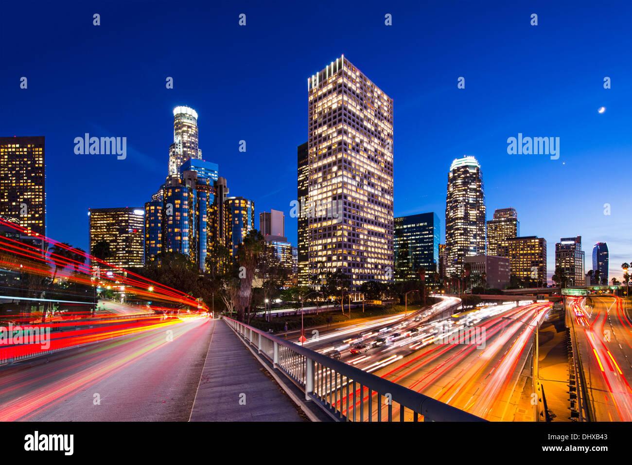 Downtown Los Angeles, California, USA skyline. - Stock Image