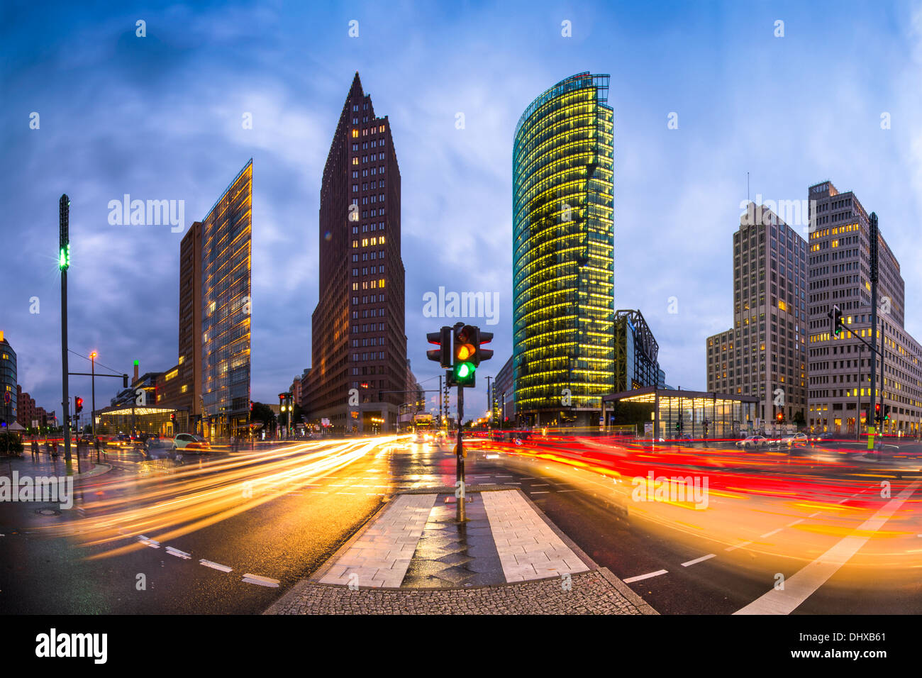 Potsdamer Platz is the financial district of Berlin, Germany. - Stock Image