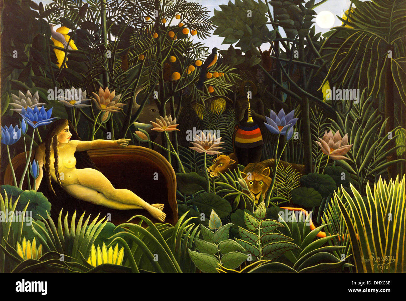 The Dream - by Henri Rousseau, 1910 - Stock Image