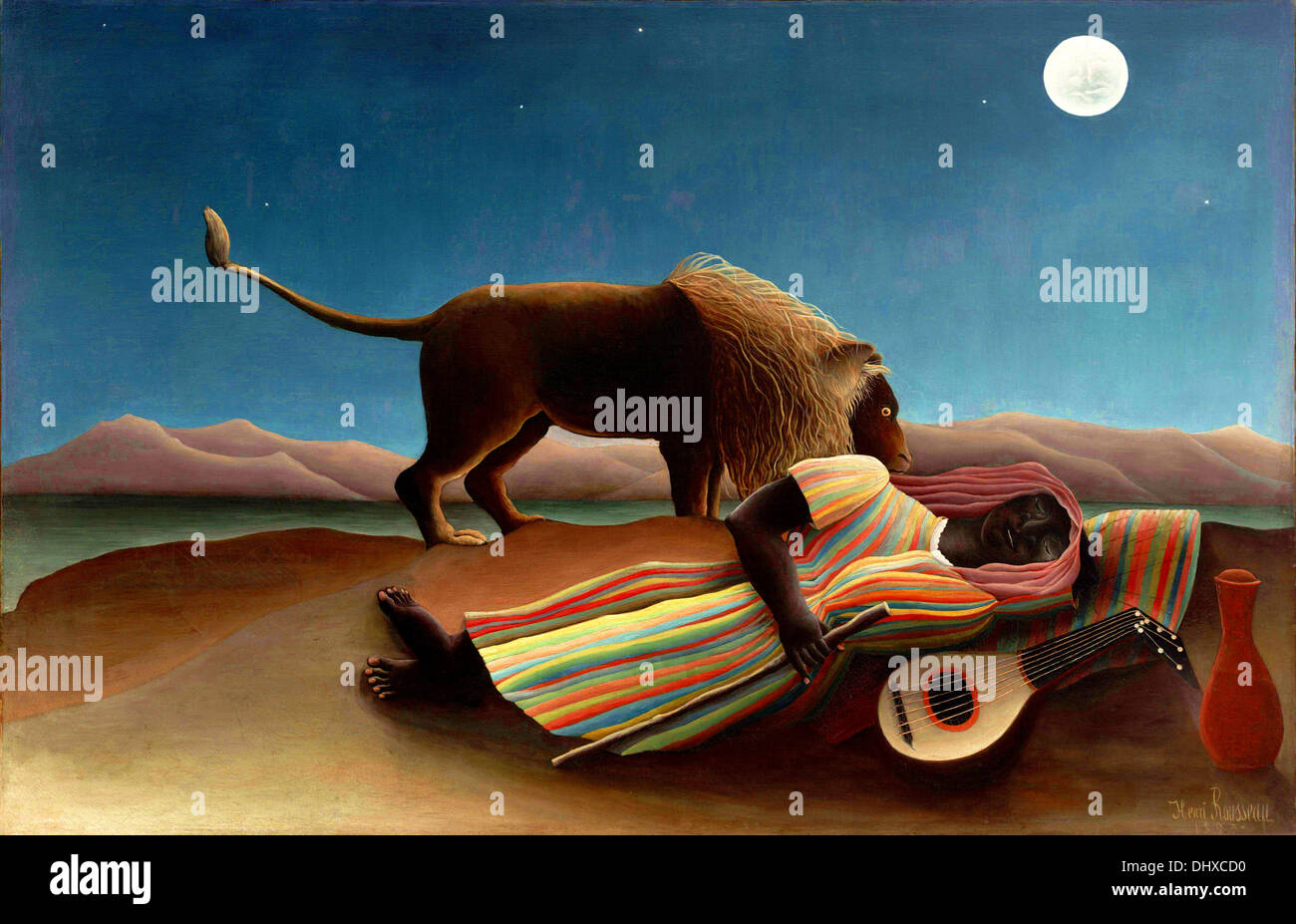 The Sleeping Gypsy  - by Henri Rousseau, 1897 - Stock Image