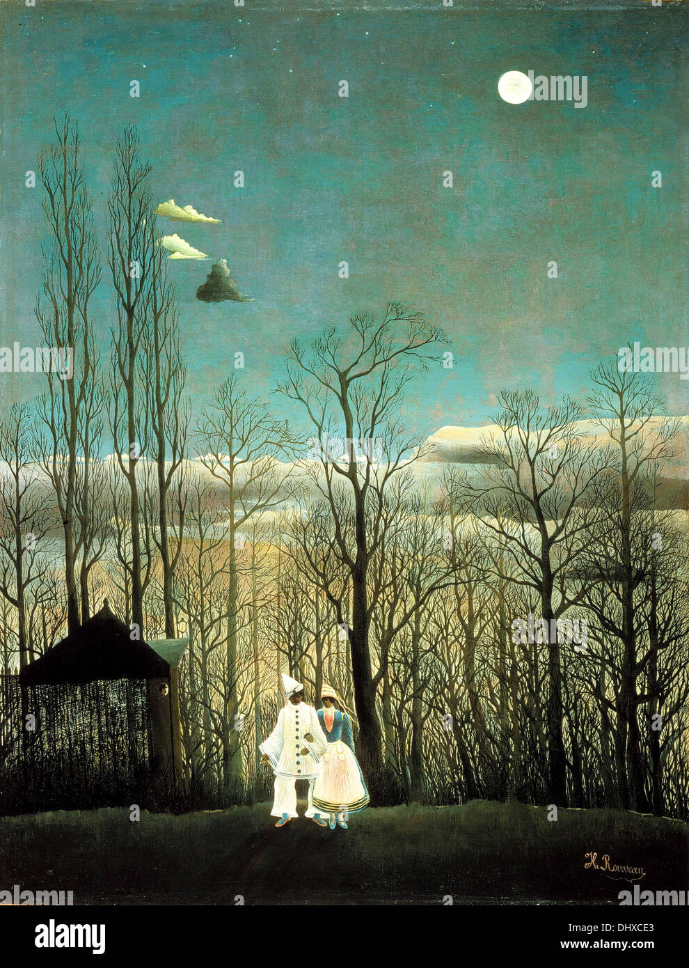 Carnival Evening  - by Henri Rousseau, 1886 - Stock Image