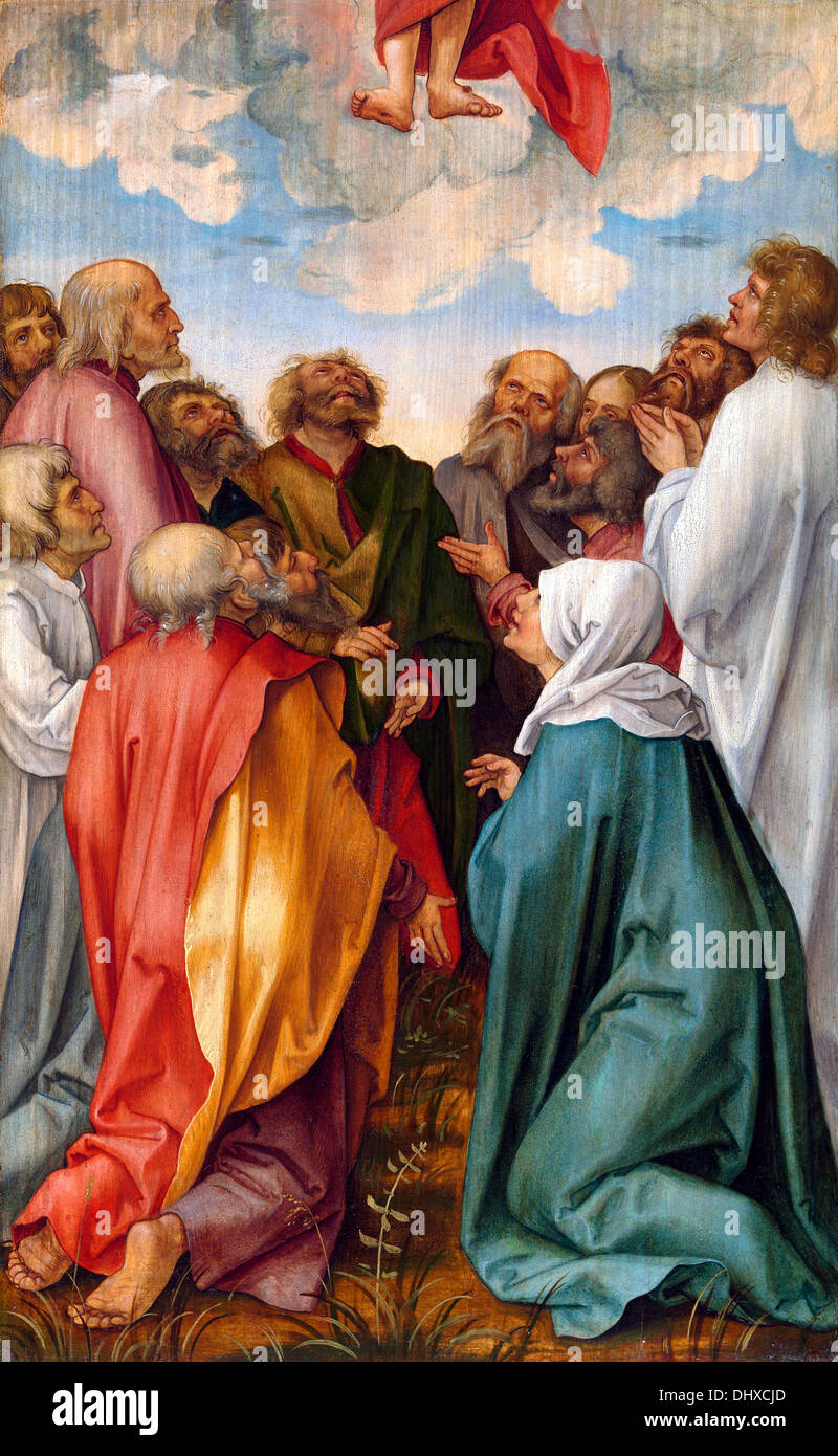 The Ascension of Christ  - by Hans Suss von Kulmbach, 1513 - Stock Image