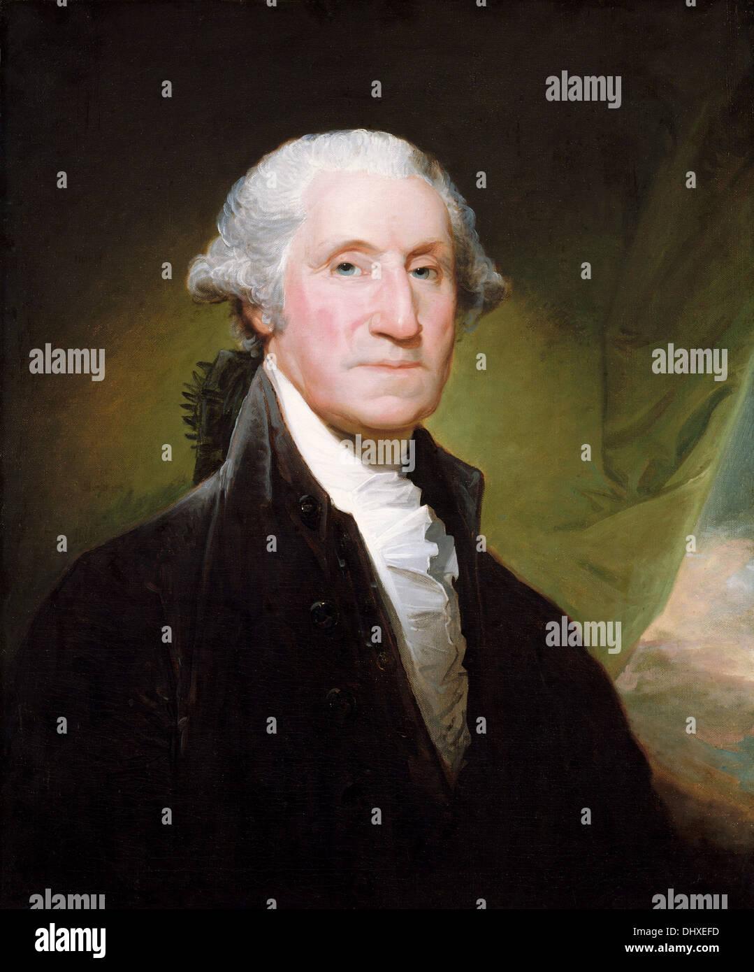 George Washington - by Gilbert Stuart, 1795 Stock Photo