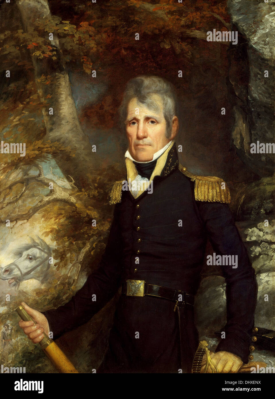 General Andrew Jackson - by John Wesley Jarvis, 1819 - Stock Image