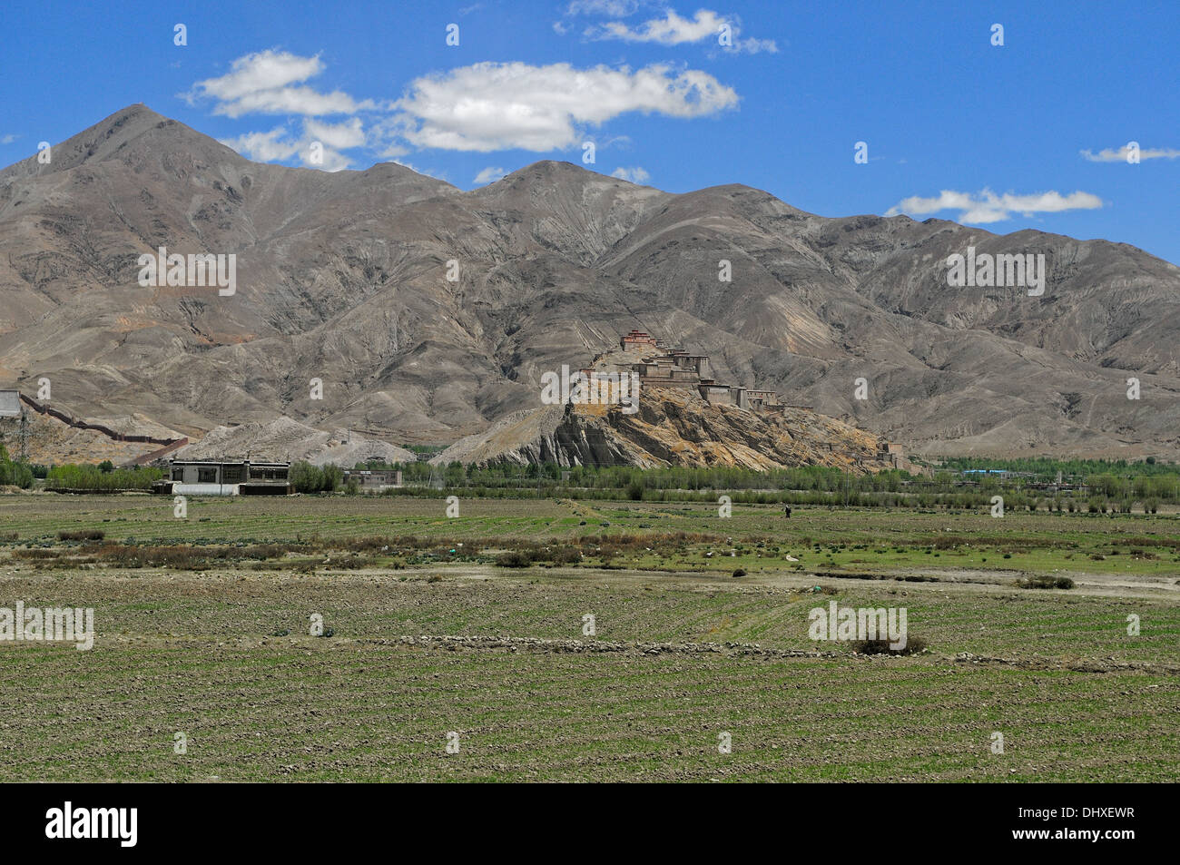 Gyantse Dzong fortress Tibet Stock Photo