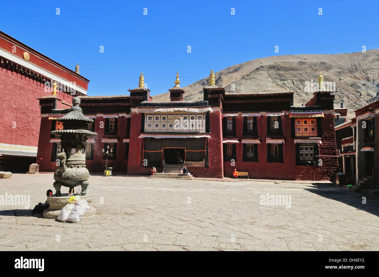 Sakya Monastery in Shigatse Tibet - Stock Image