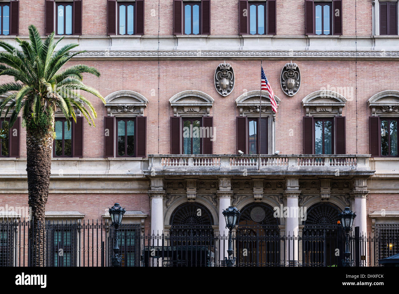 United States Embassy in Rome, Italy - Stock Image