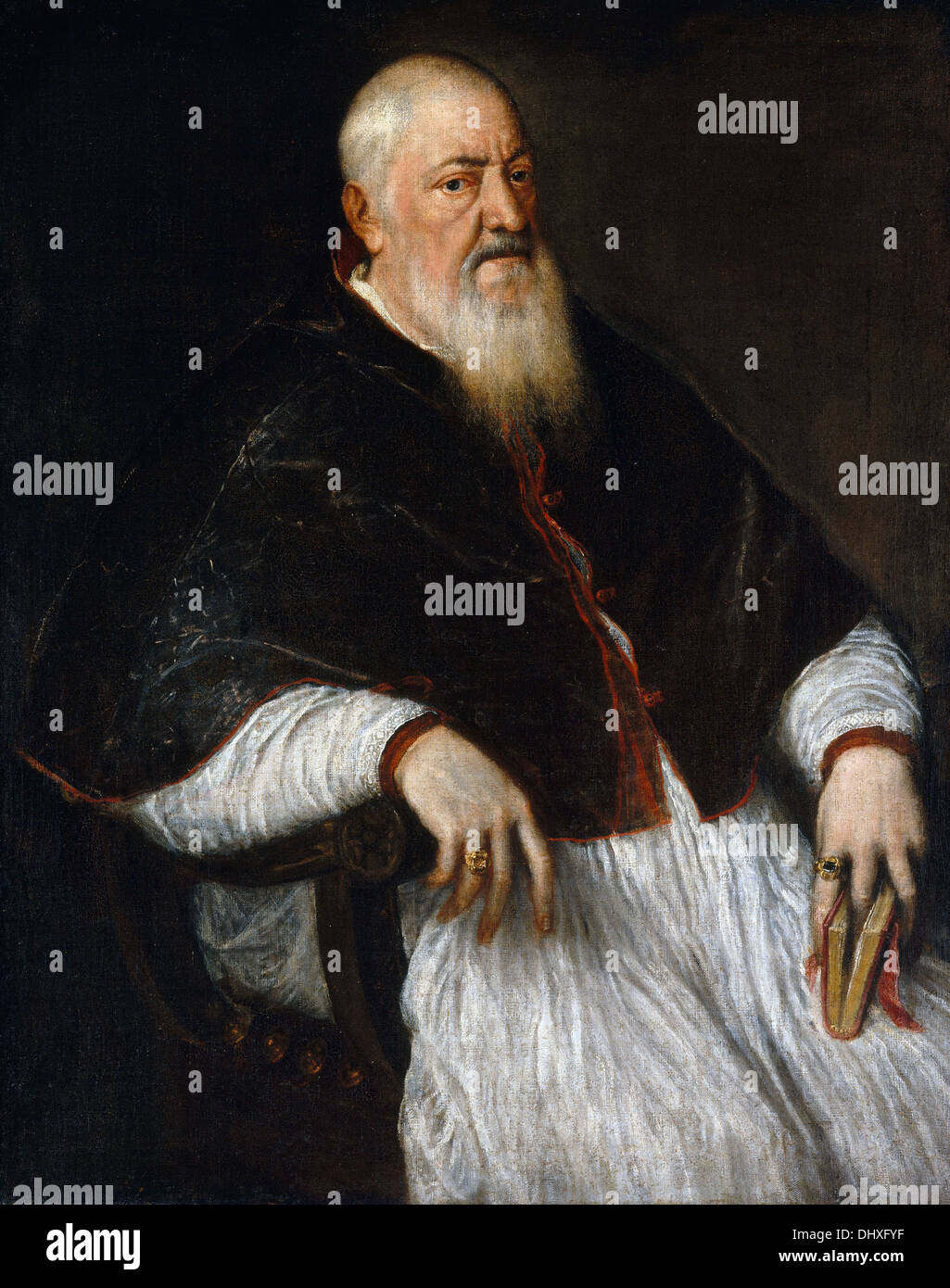 Filippo Archinto, Archbishop Of Milan - by Titian, 1550's - Stock Image