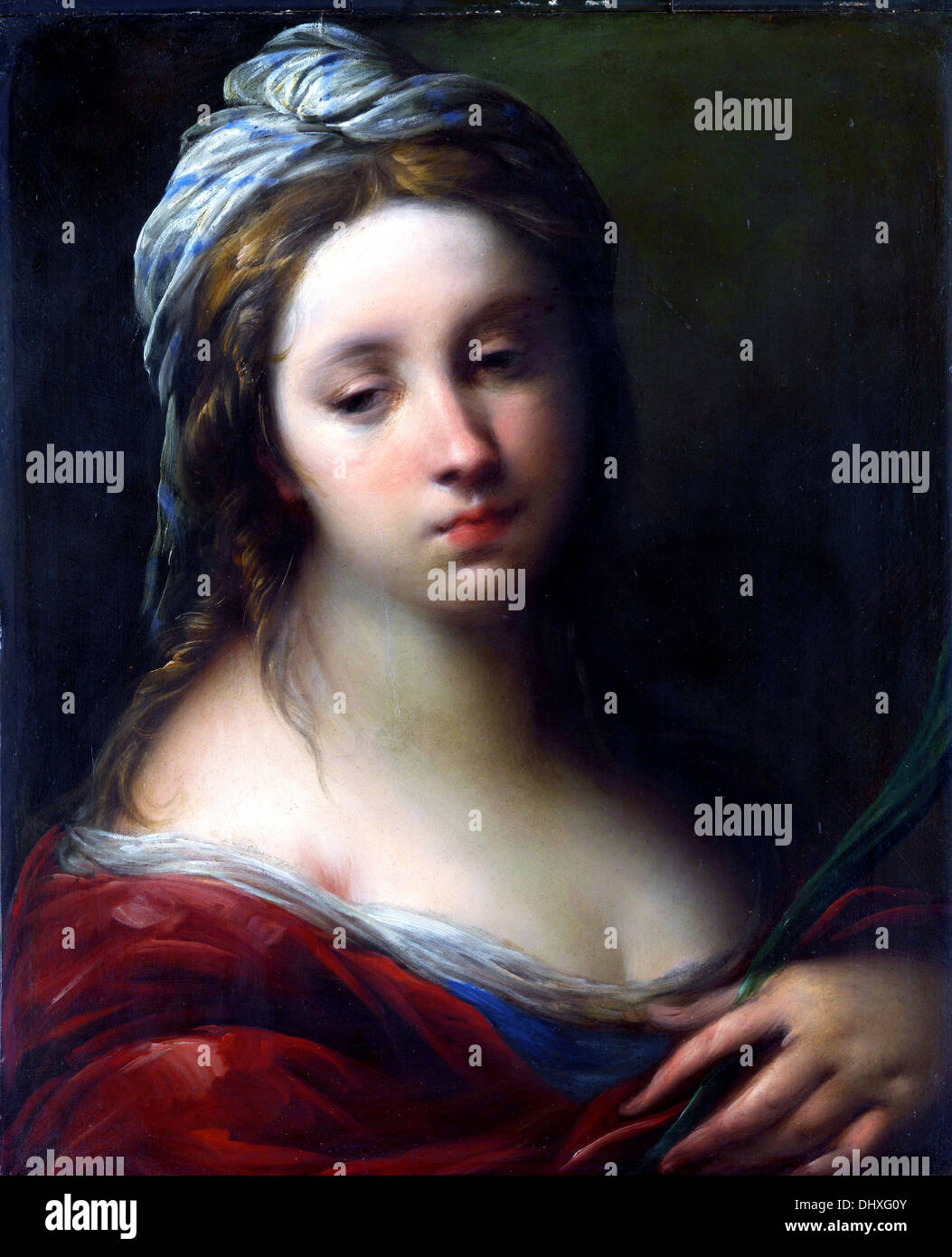 A Female Martyr Saint - by Carlo Francesco Nuvolone, 1650 - Stock Image
