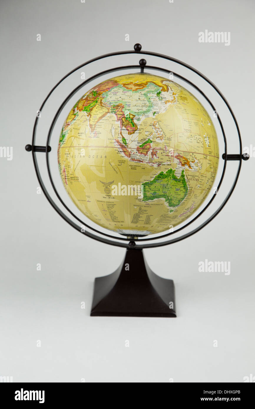 globe life map moon planet space vintage old earth still life no body one single object - Stock Image