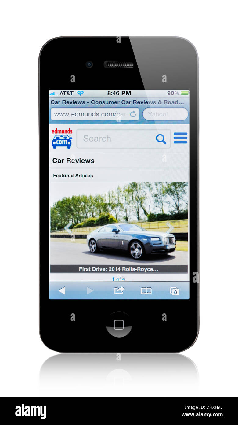 Iphone Screen Showing Edmunds Com Website New Cars Used Cars Car