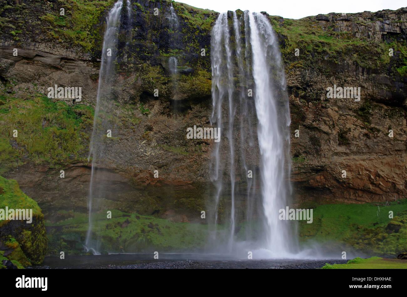 waterfall seljelandsfoss Stock Photo