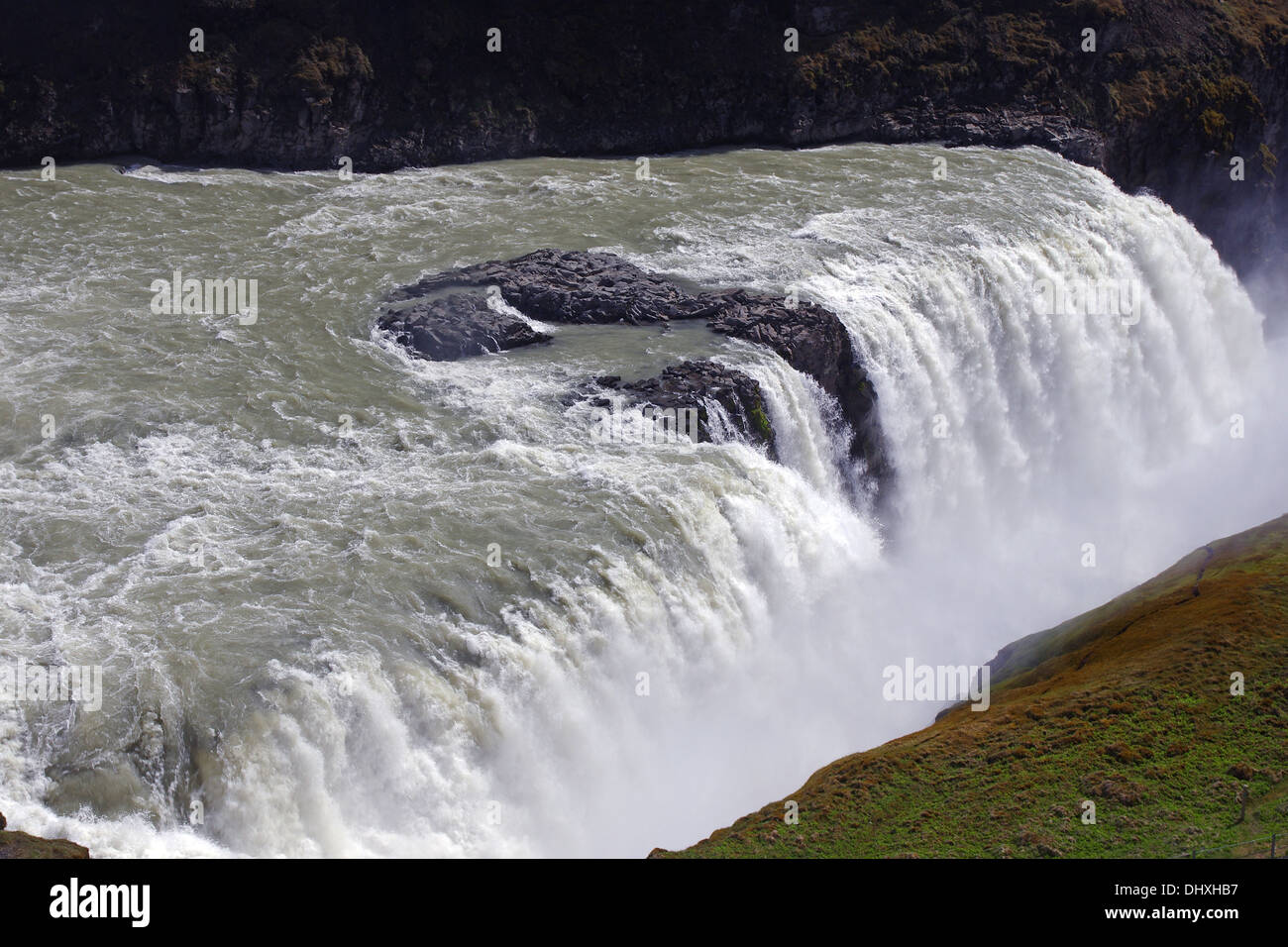 the mighty Gullfoss - Stock Image