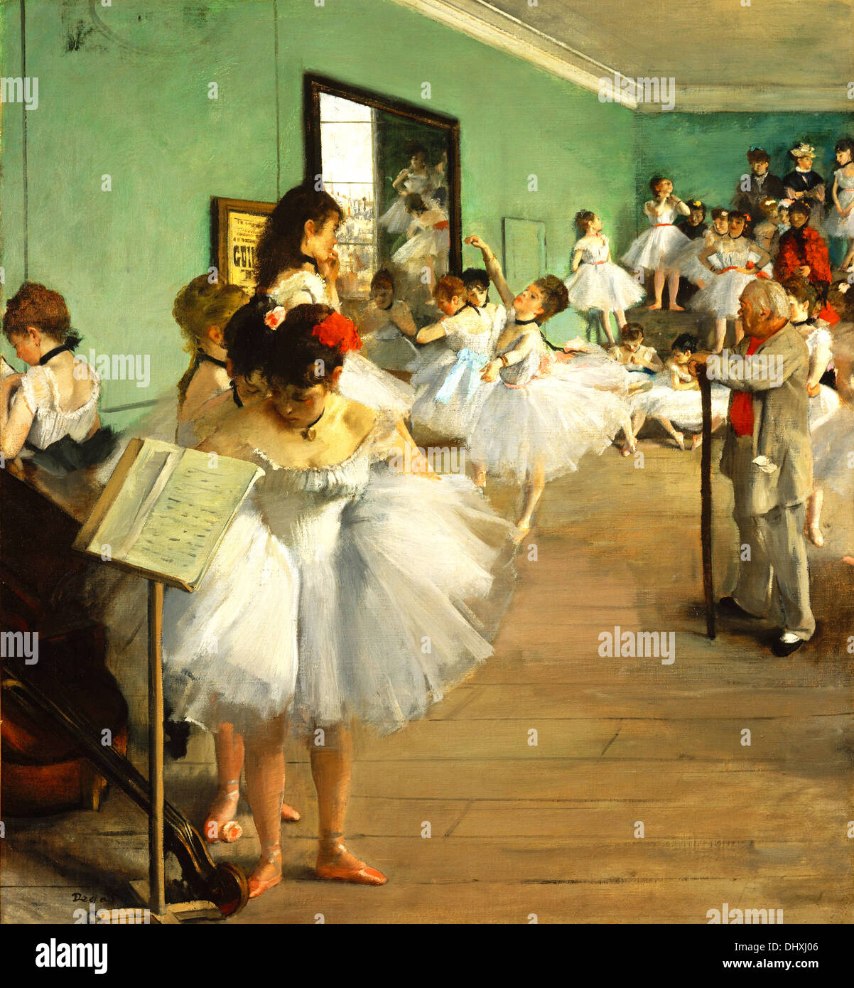 The Dance Class - by Edgar Degas, 1874 - Stock Image