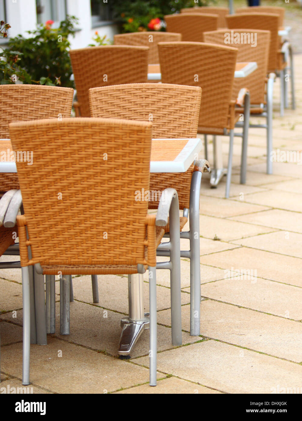 outdoor restaurant coffee terrace open air cafe chairs with table