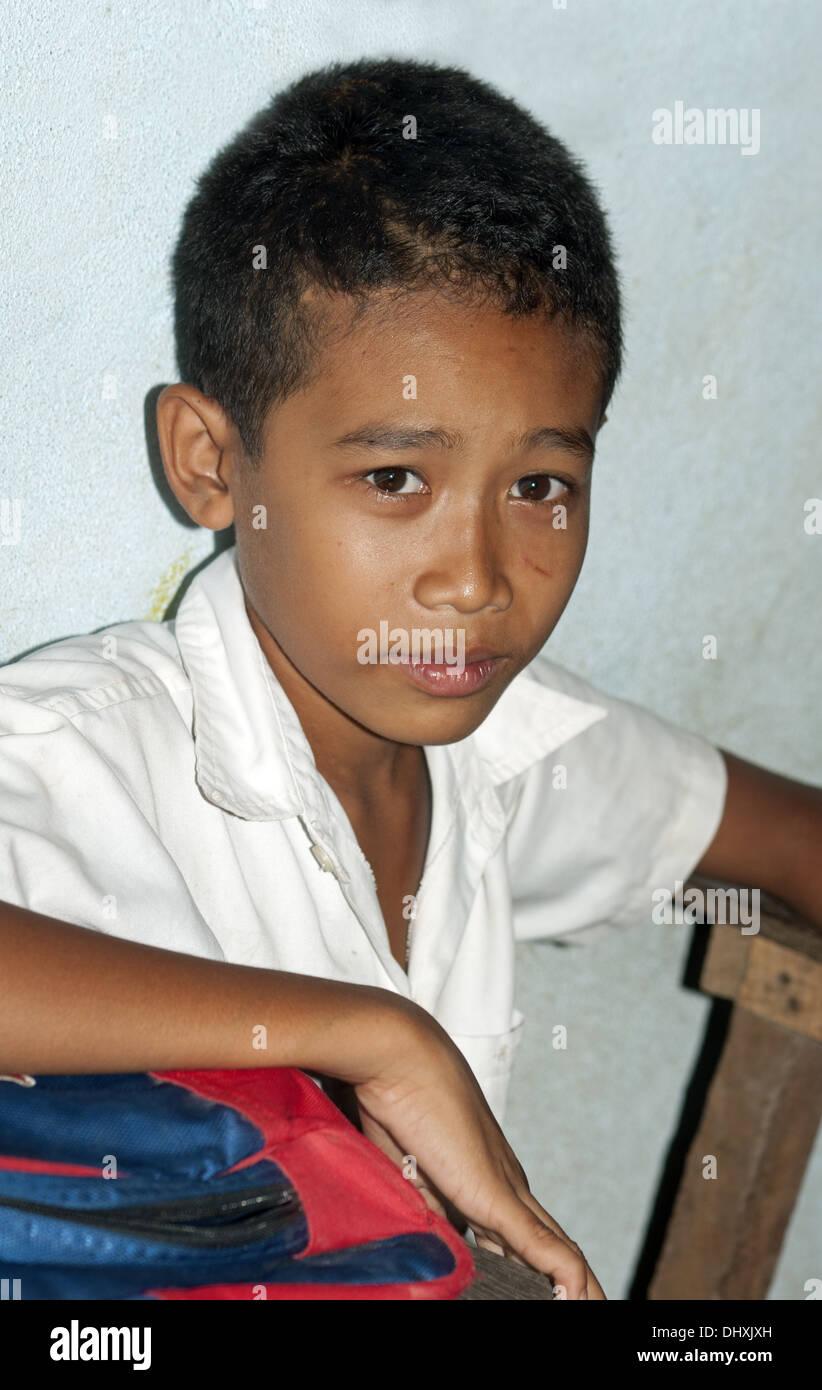 Student of a primary school, Cambodia Stock Photo