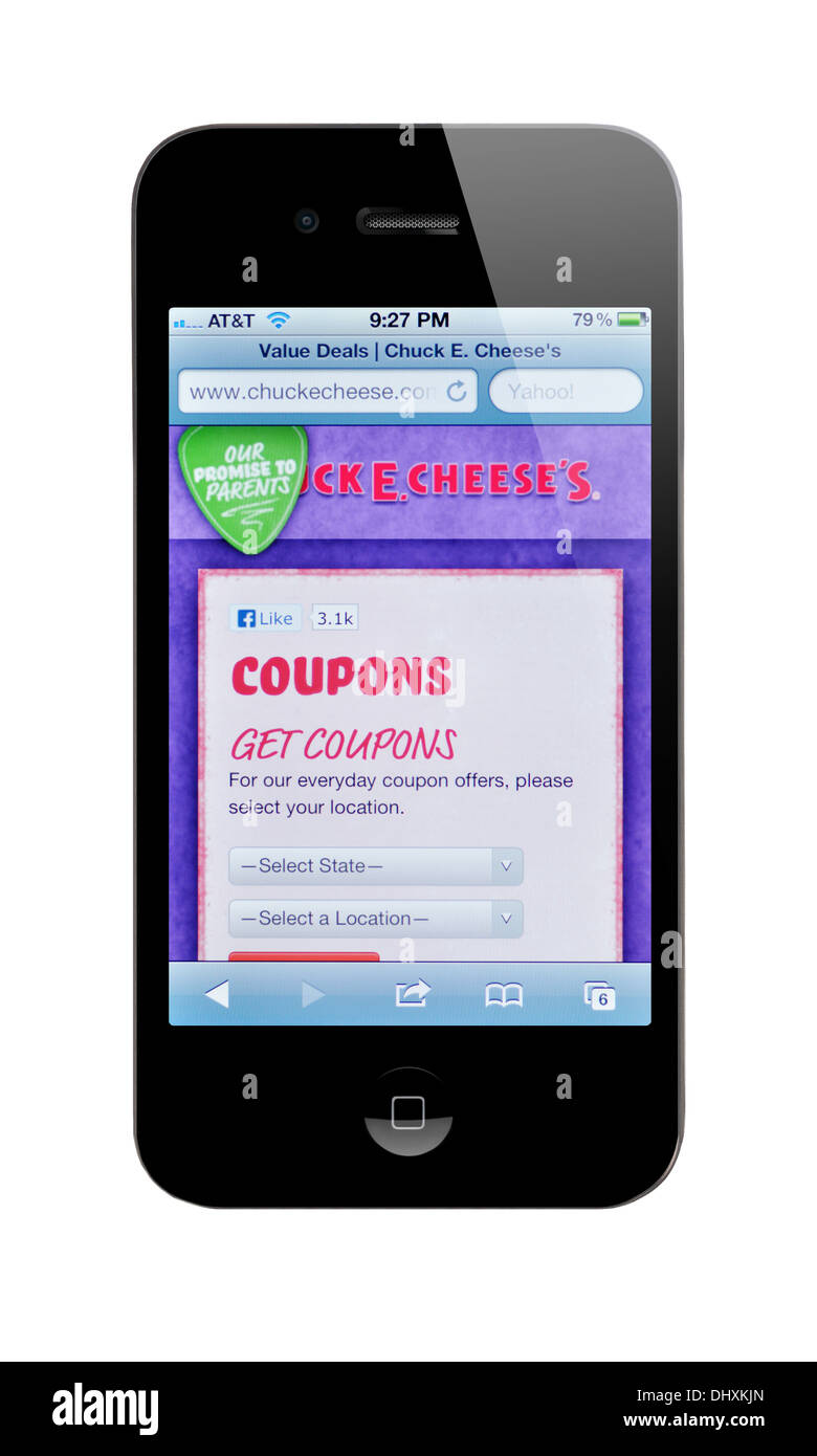 Coupons on iphone