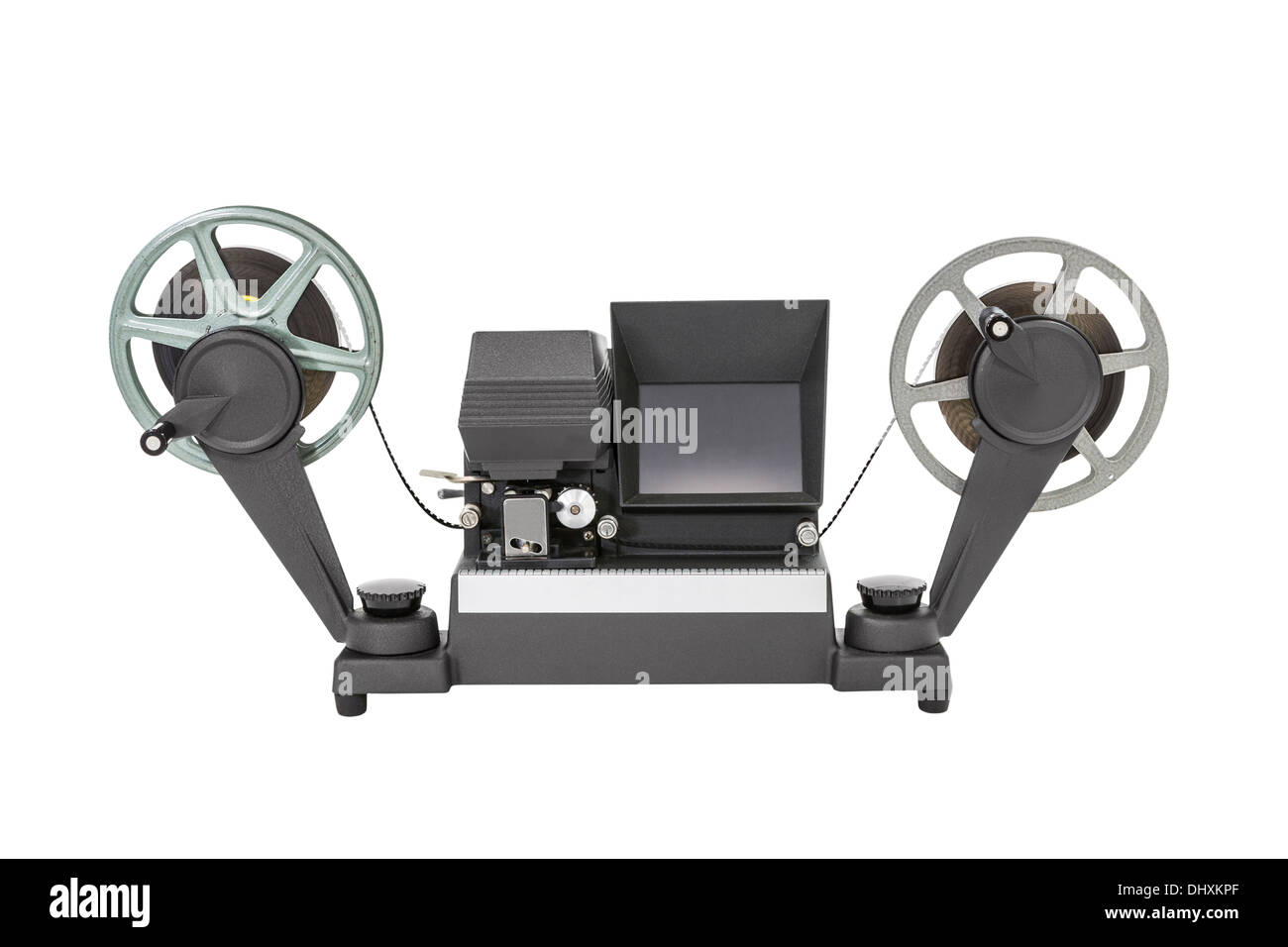 Vintage 8 mm film viewer editor isolated with clipping path. - Stock Image