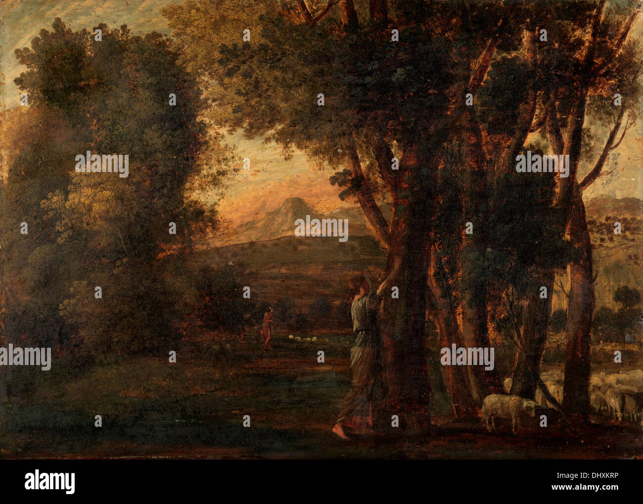 Landscape with Erminia - by Claude Lorrain 1647 - Stock Image