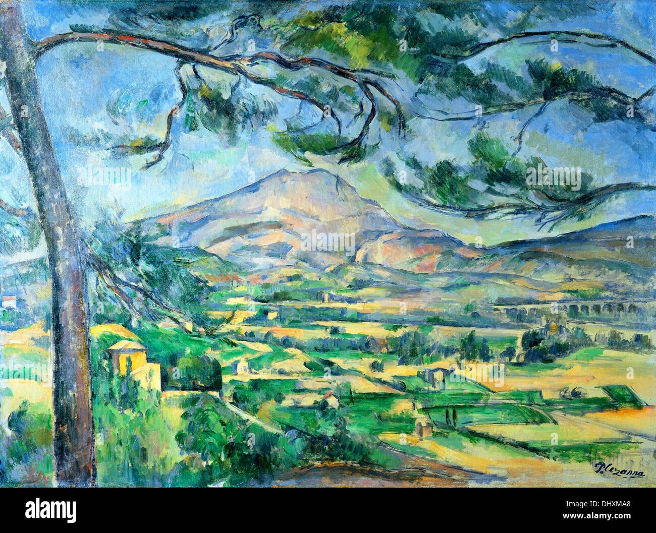 The Mont Sainte-Victoire - by Paul Cézanne, 1887 - Stock Image