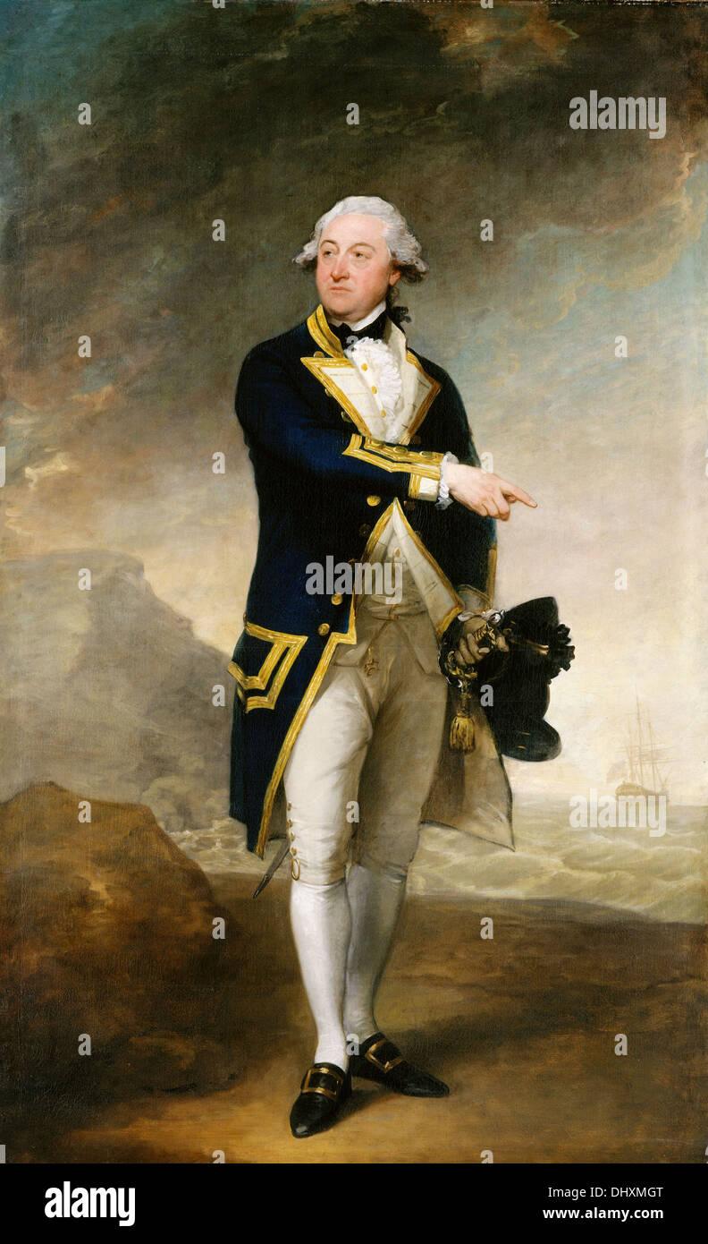 Captain John Gell  - by Gilbert Stuart, 1785 - Stock Image