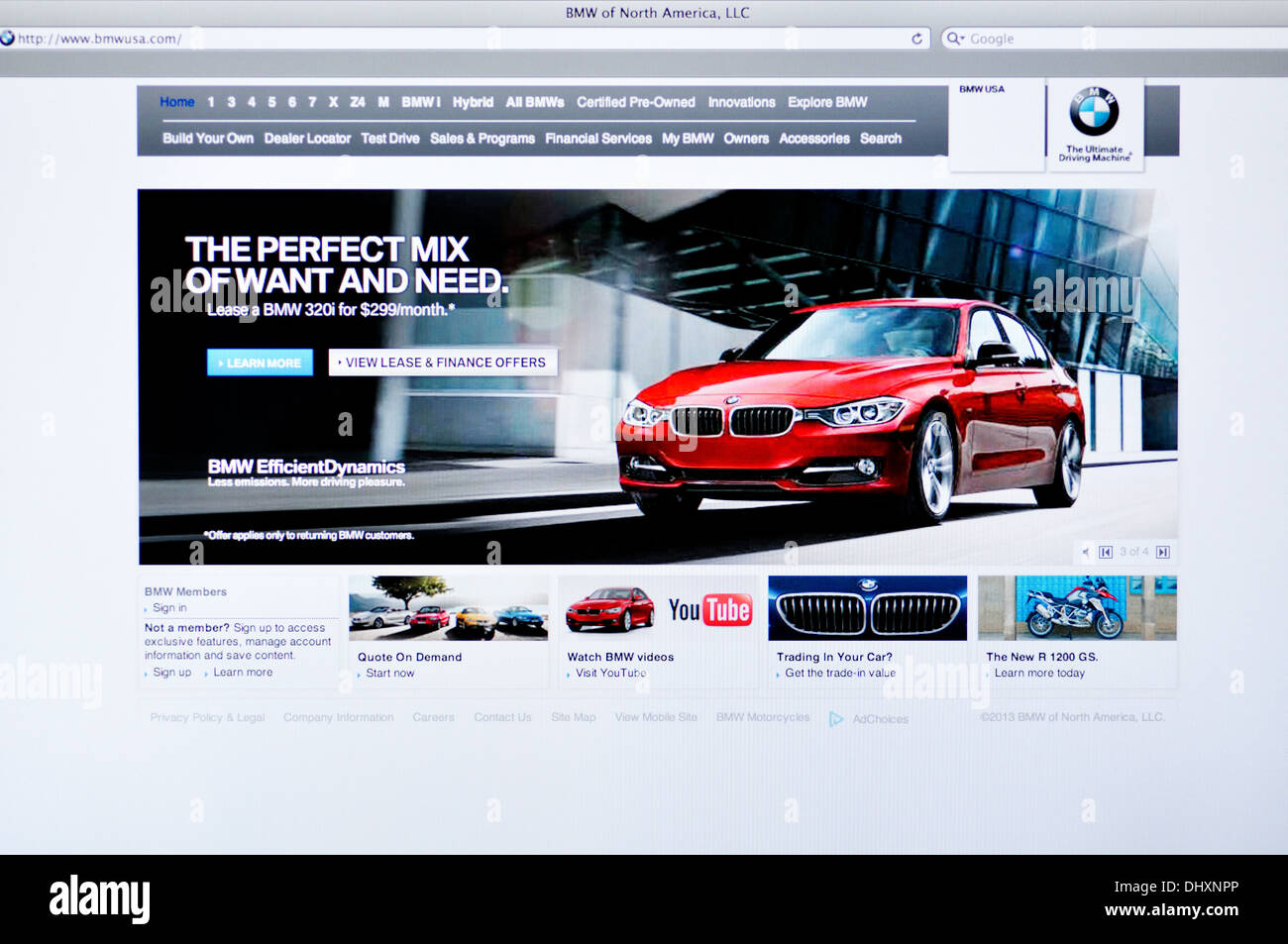 8e99aef604a137 BMW German car manufacturer website Stock Photo  62668110 - Alamy