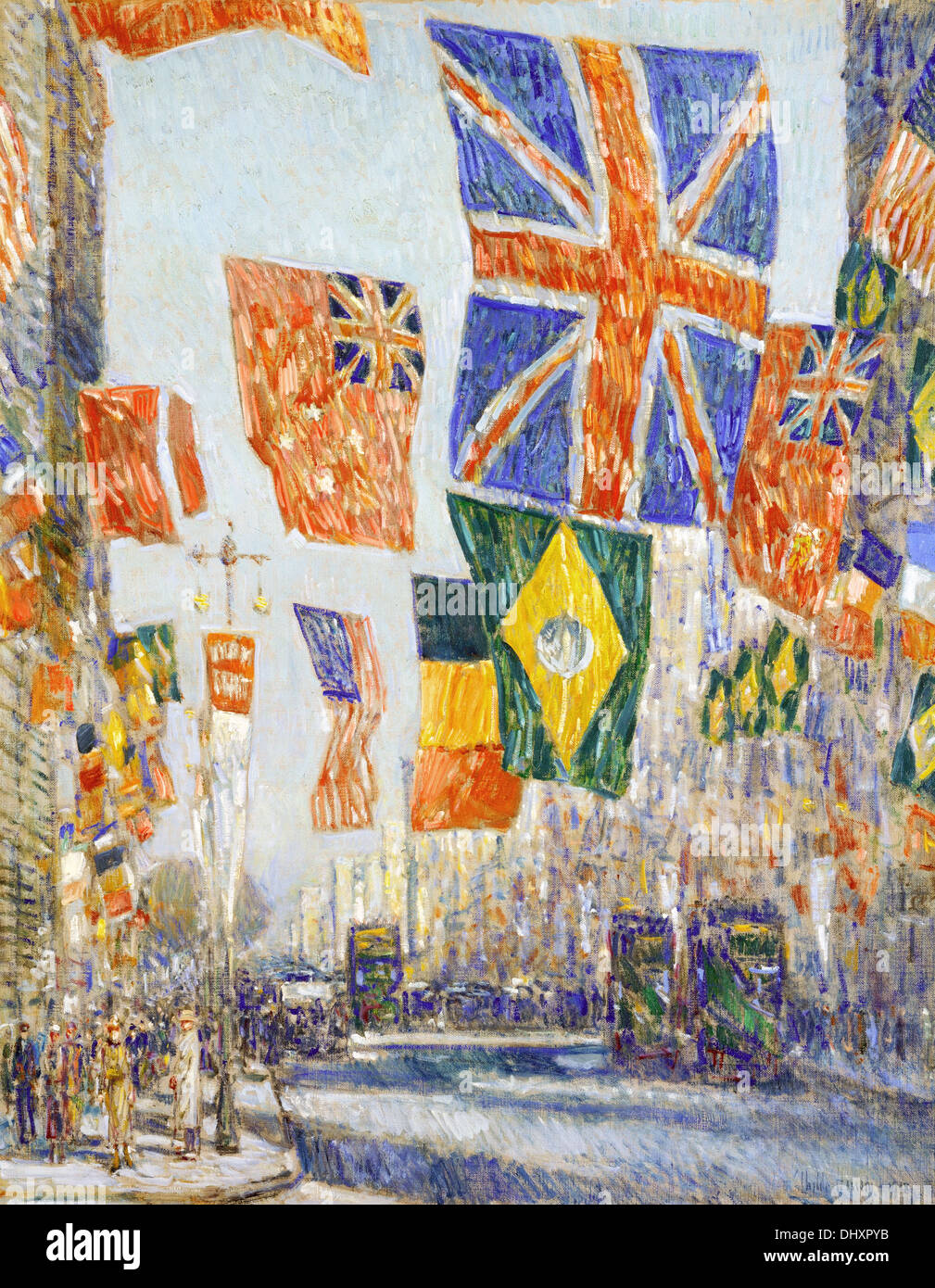 Avenue of the Allies, Great Britain - by Childe Hassam, 1918 - Stock Image