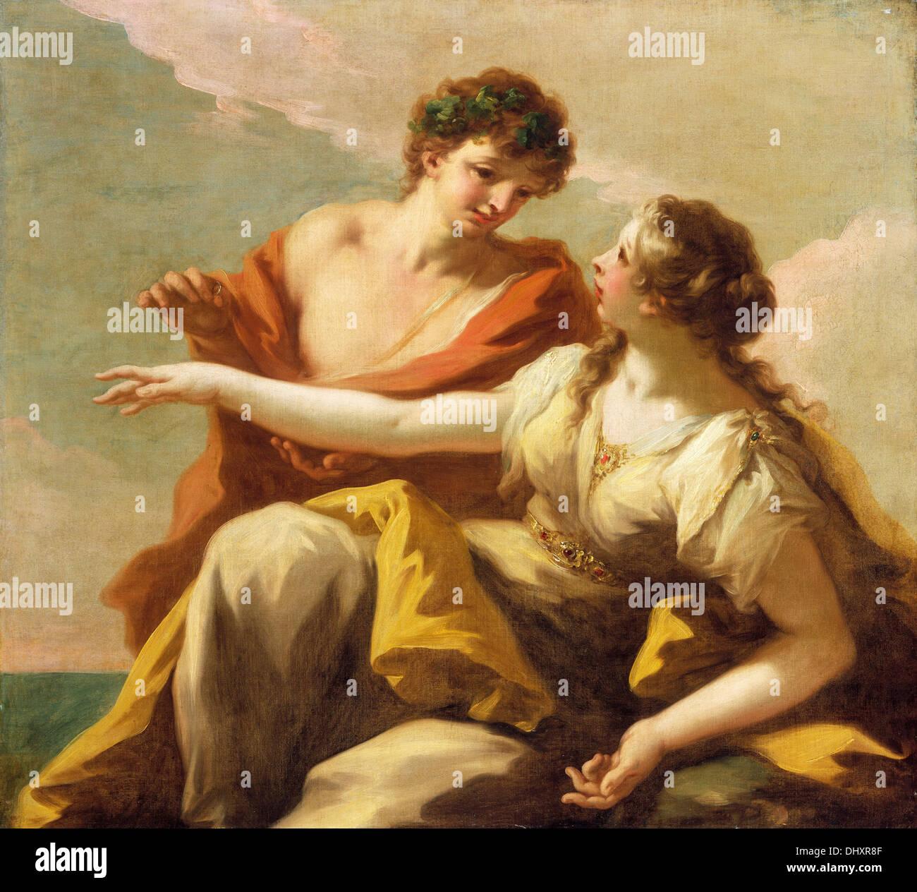 Bacchus and Ariadne - by Giovanni Antonio Pellegrini, 1720's Stock Photo