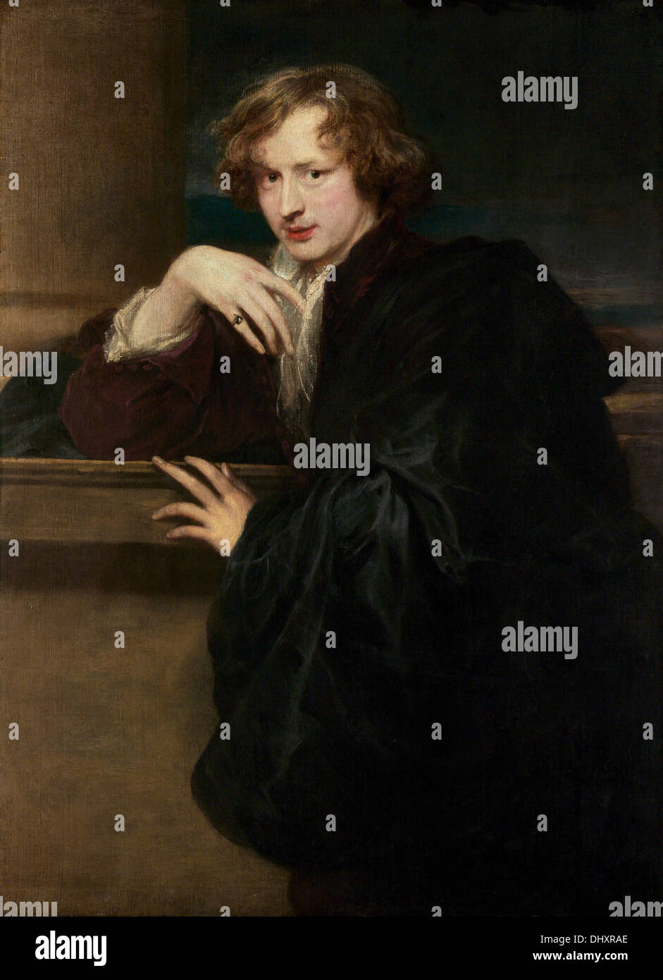 Self-Portrait - by Anthony van Dyck, 1621 - Stock Image
