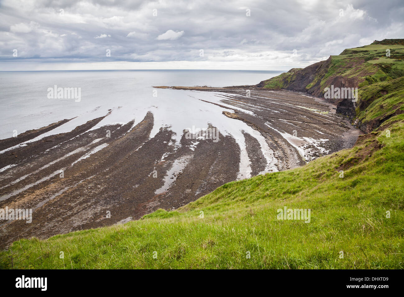 The Scars of Ravenscar, North Yorkshire. Stock Photo