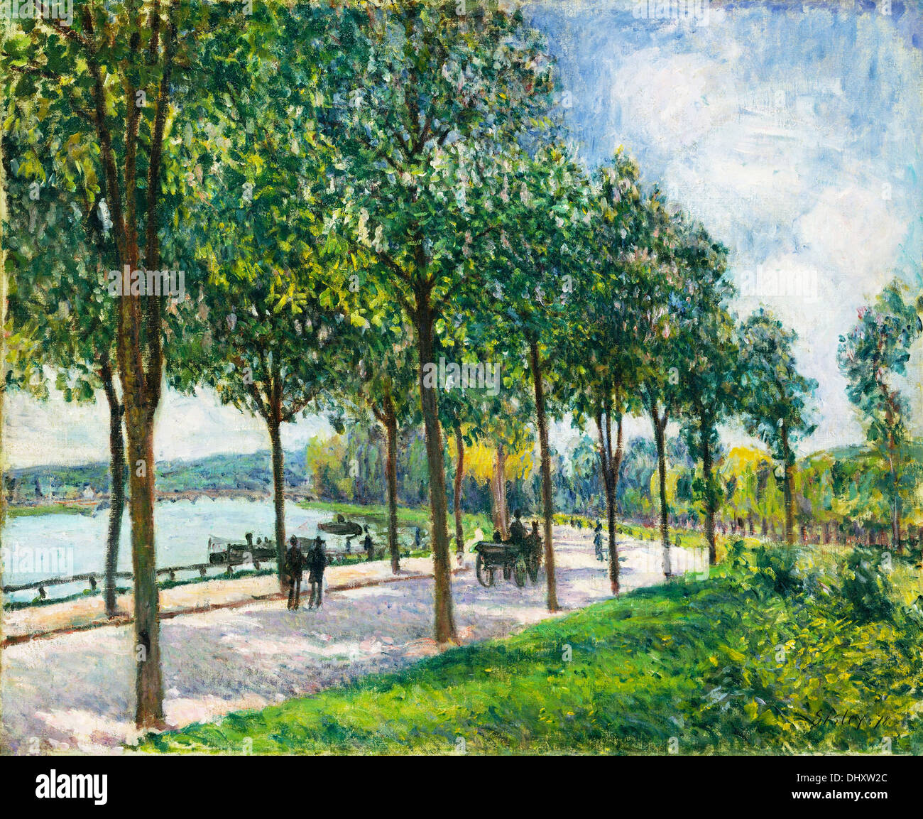 Allée of Chestnut Trees  - by Alfred Sisley, 1878 - Stock Image