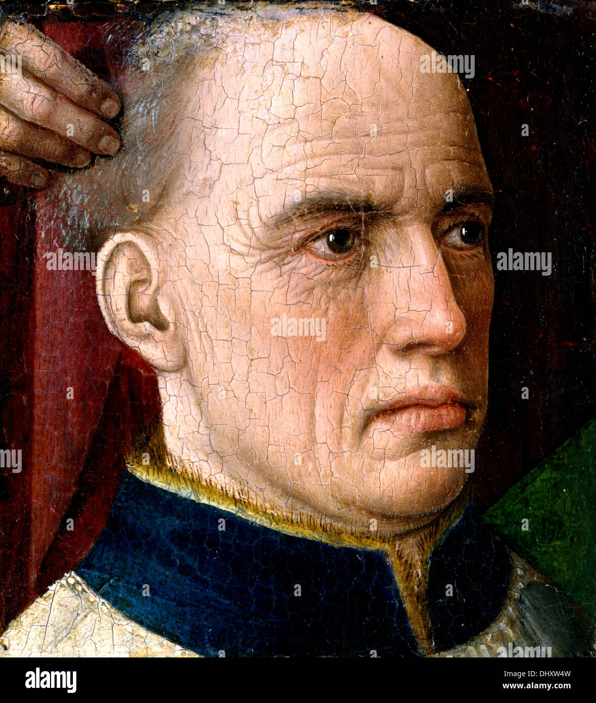 Head of a Donor - by Albert van Ouwater, 1460 - Stock Image