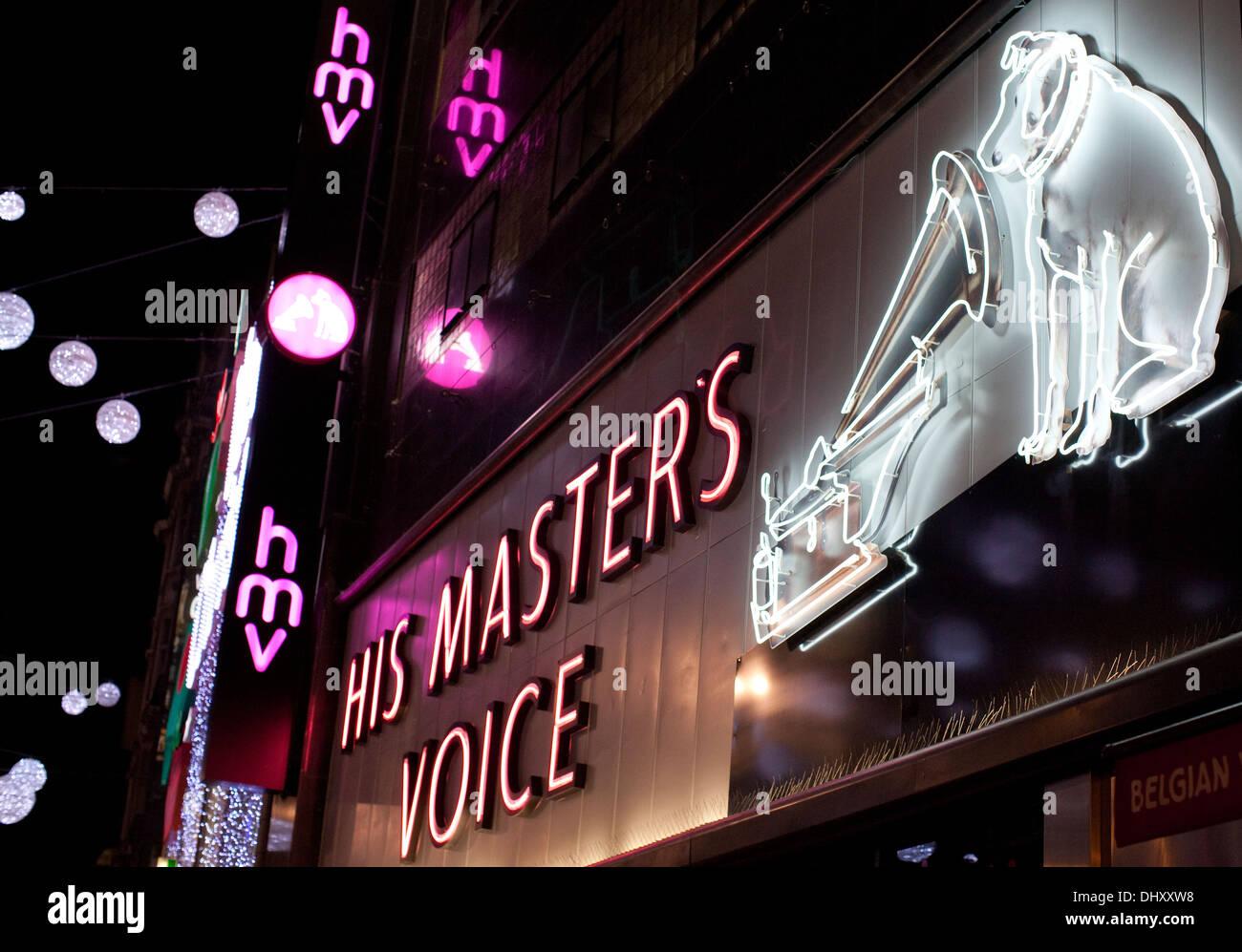 HMV store in Oxford Street, London - Stock Image
