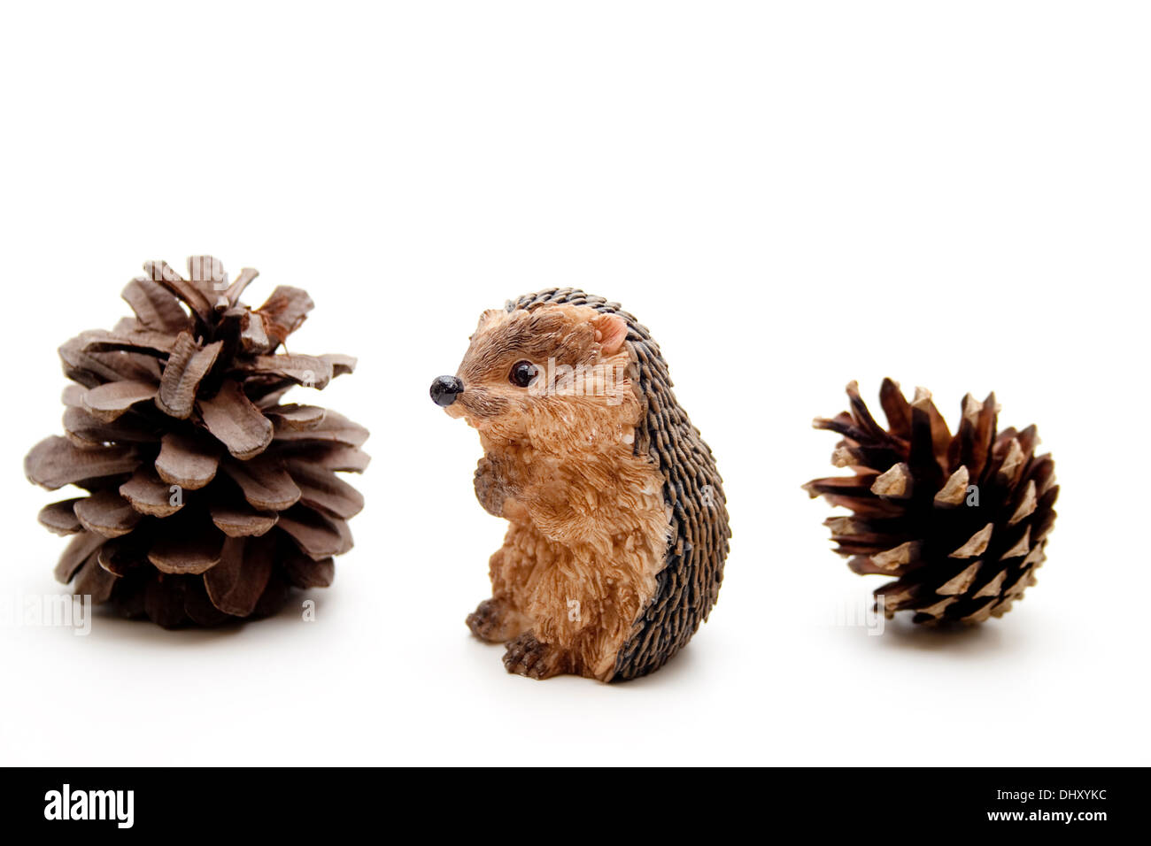 Handmade Hedgehog from cones and a plastic bottle
