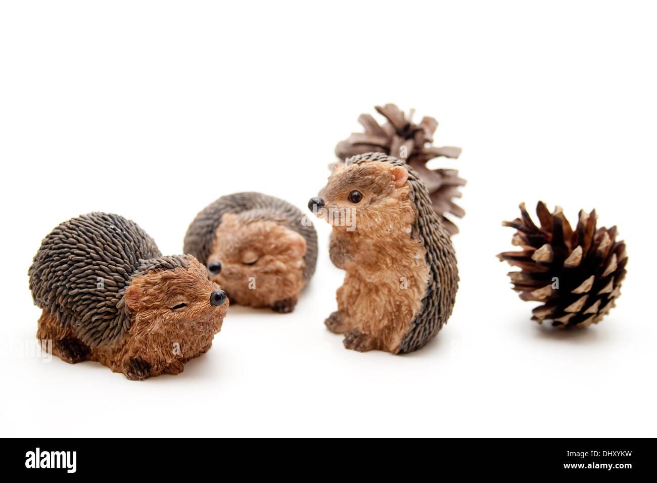 Hedgehog figure - Stock Image