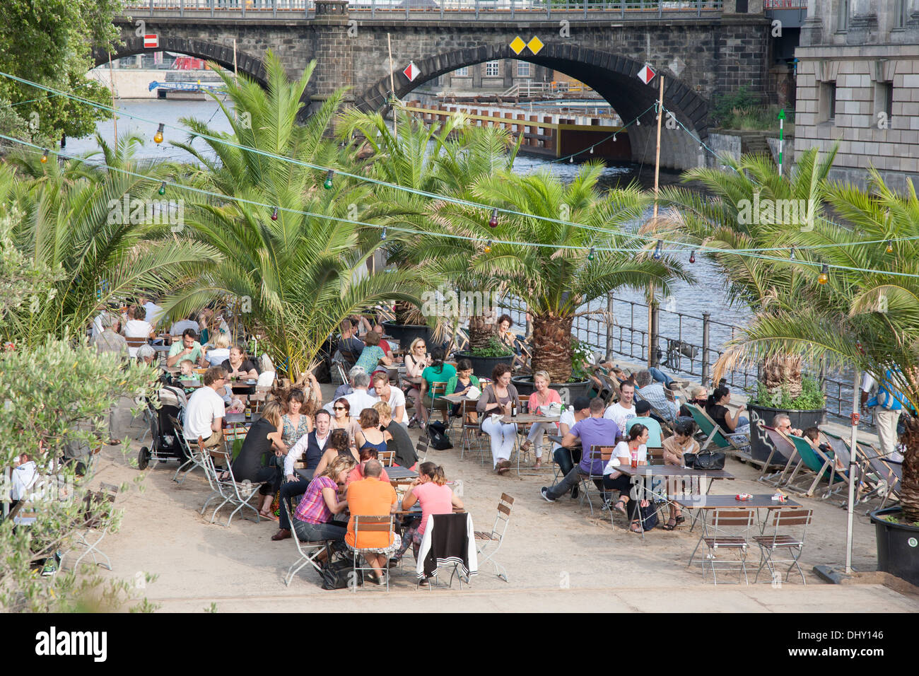 people at bar and cafe terrace in monbijou park by river spree stock photo 62673862 alamy. Black Bedroom Furniture Sets. Home Design Ideas