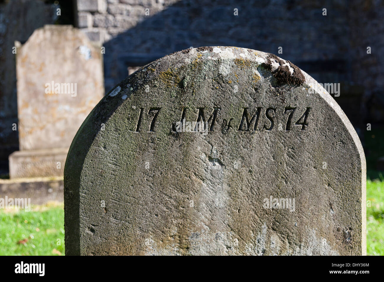 Gravestone, 1774 - Stock Image