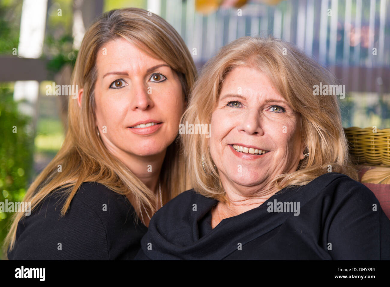 Portrait Of Two Women Mother And Daughter 61 44 Years Old Caucasian Ethnicity