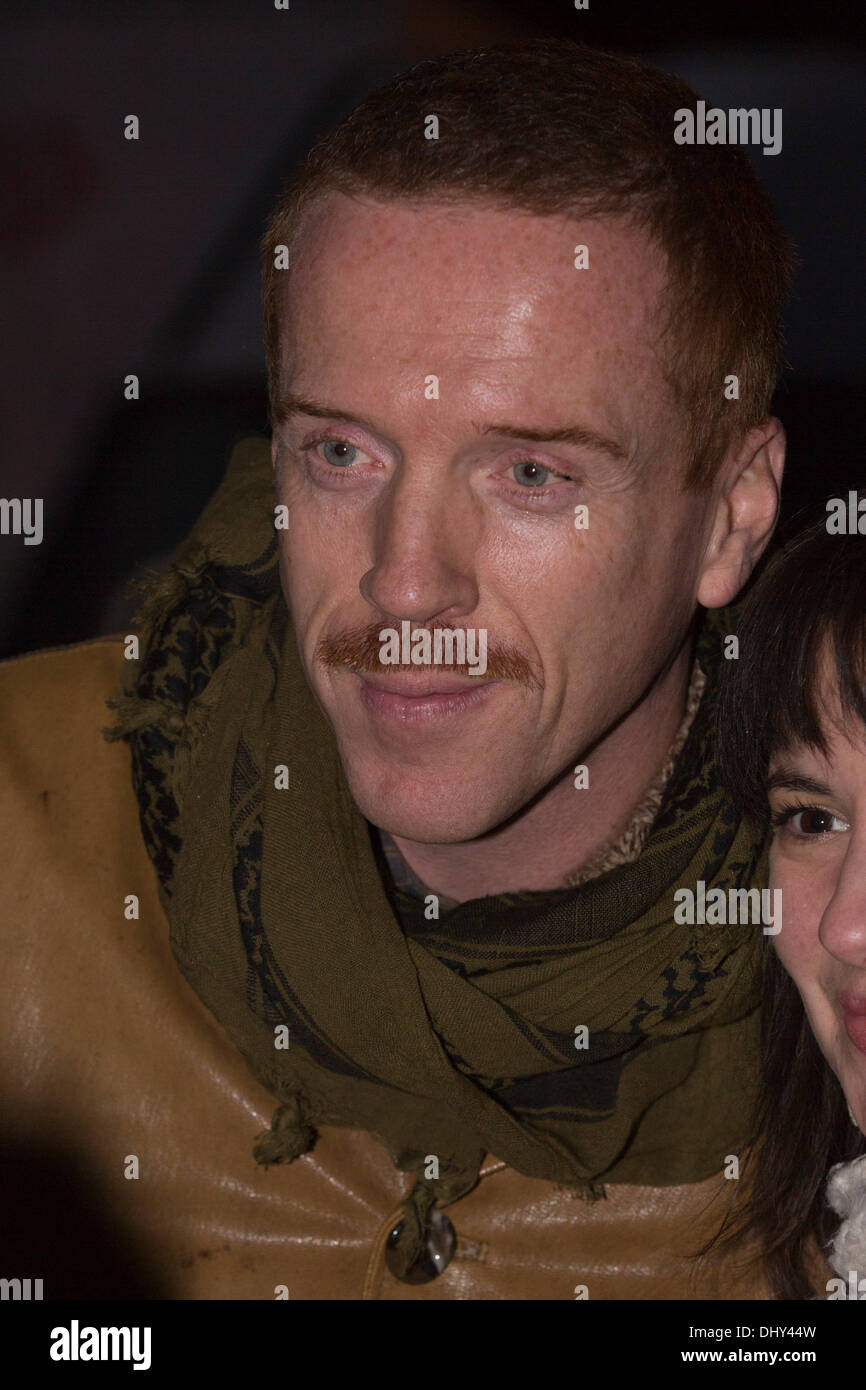 London, UK. 16 November 2013. Pictured: Damian Lewis. Actors Damian Lewis and Helen McCrory, husband and wife, switch on the Christmas lights at the Christmas Festival in Highgate Village, London, UK. Photo: Nick Savage/Alamy Live News - Stock Image