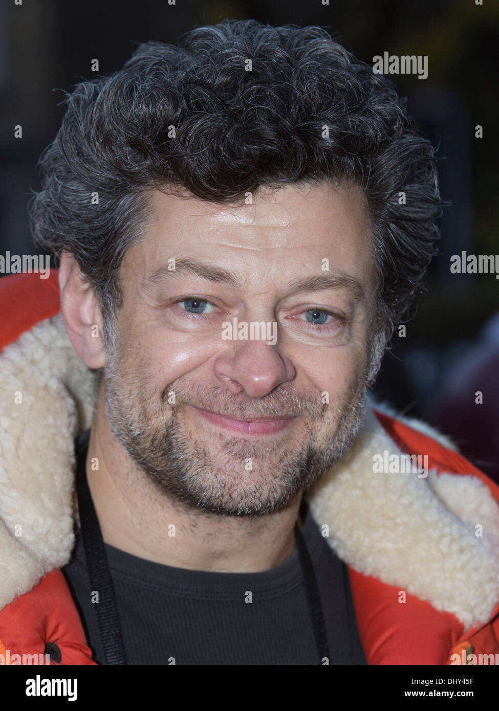 London, UK. 16 November 2013. Picture: Also spotted at the fair: Actor Andy Serkis. Actors Damian Lewis and Helen - Stock Image