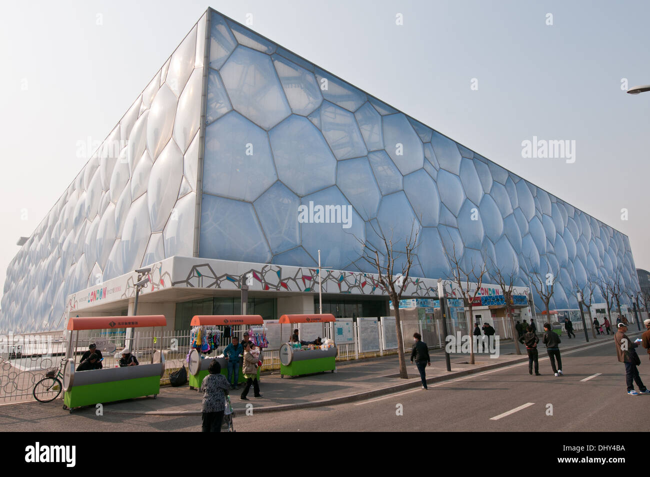 Beijing National Aquatics Center commonly known as Water Cube Stock Photo