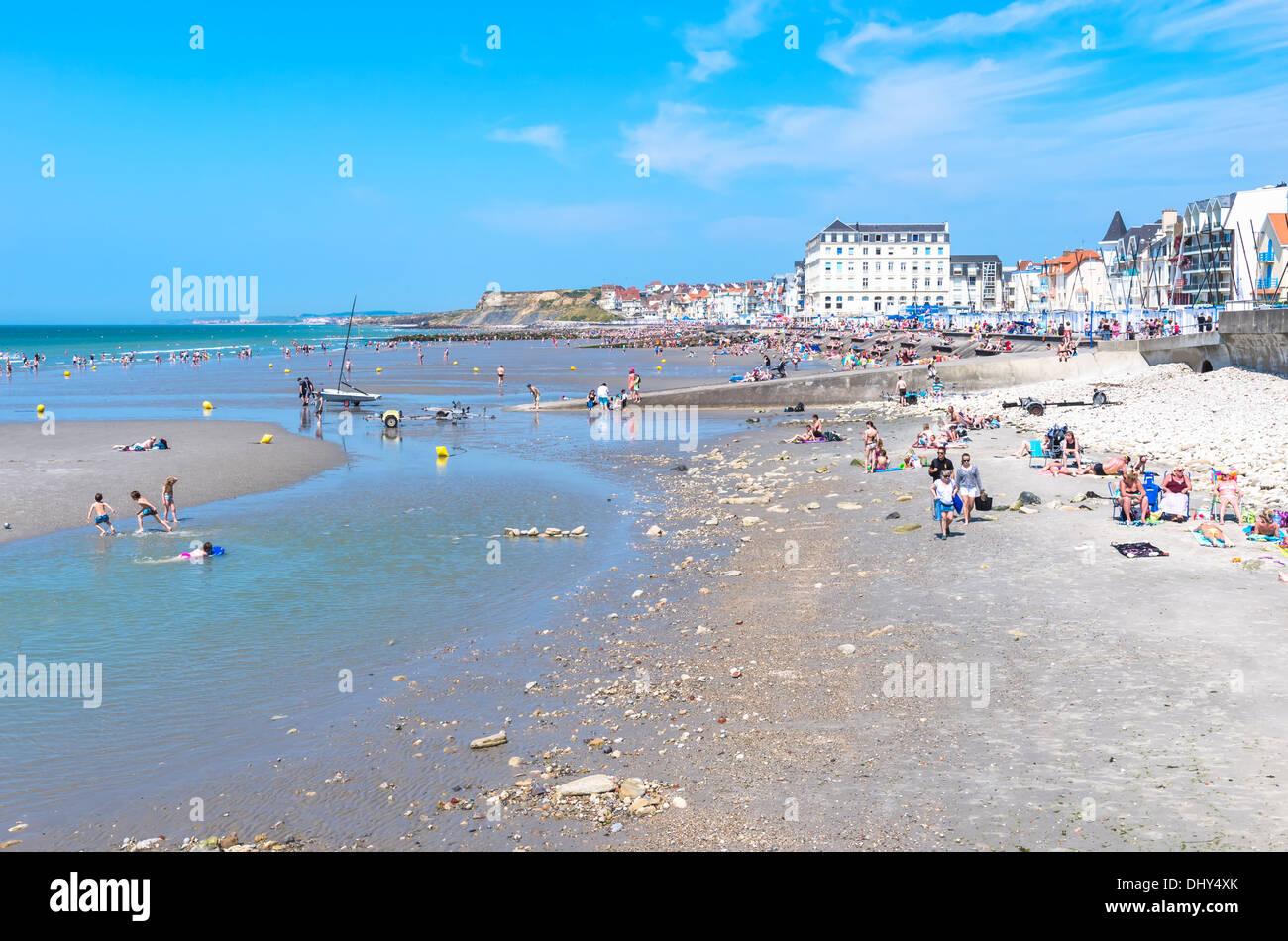 Wimereux beach, Côte d'Opale, Region Nord-Pas de Calais, France - Stock Image