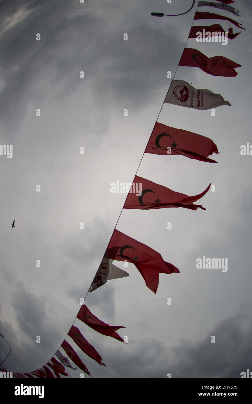 flags in Istanbul - Stock Image