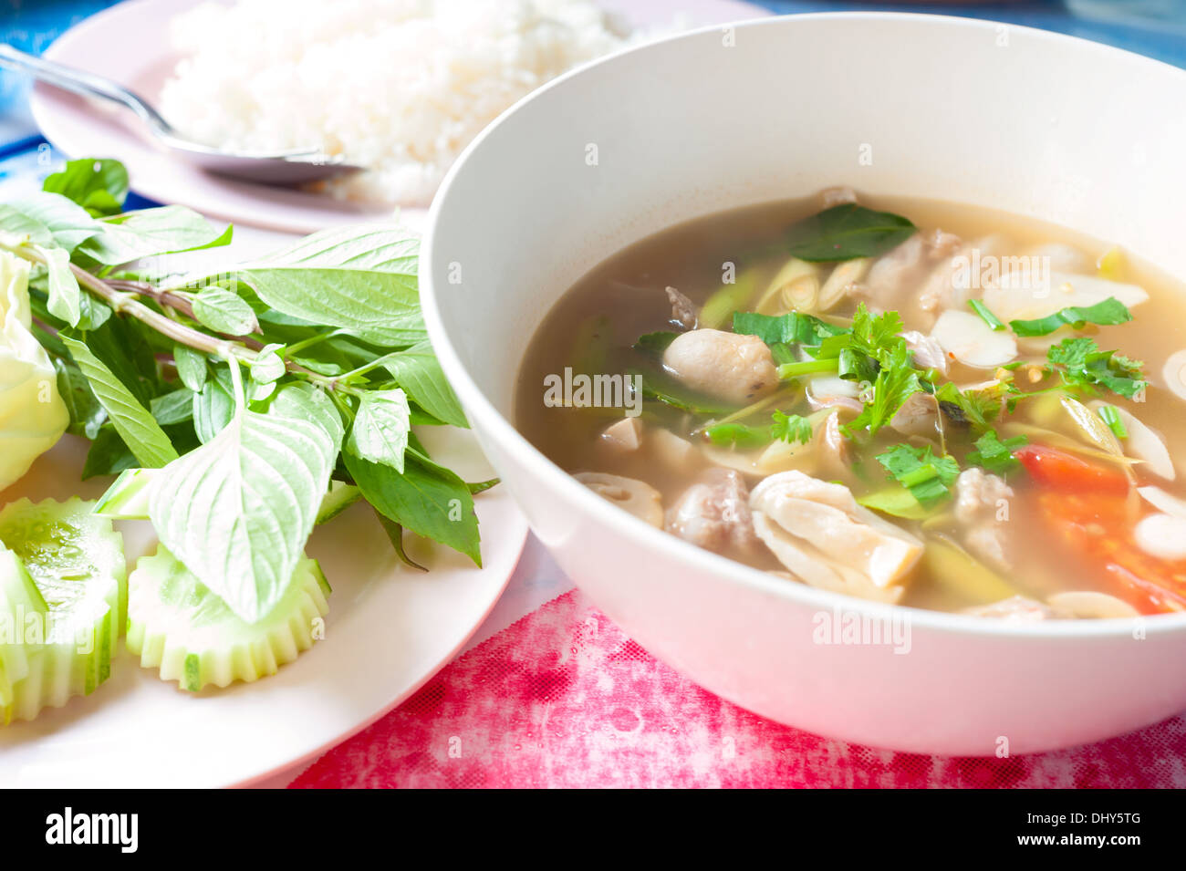 Curries thai sreet food . - Stock Image