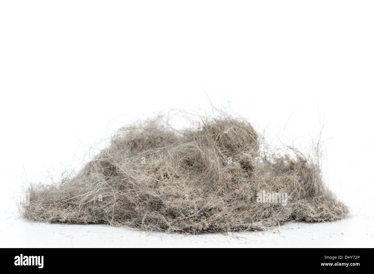 Dust heap with more wool - Stock Image