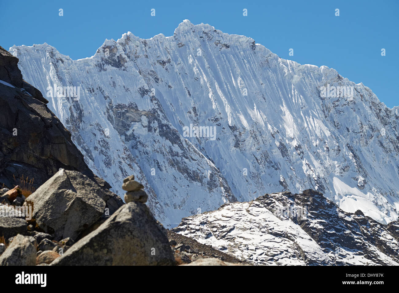 Ocshapalca Summit (5888m) in the Peruvian Andes. - Stock Image
