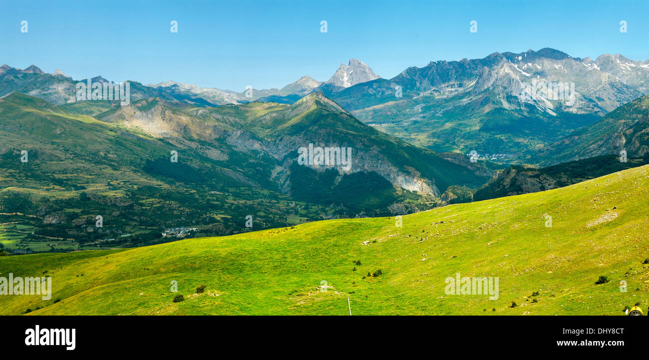 Pic du Midi panorama in the French Pyrenees - Stock Image