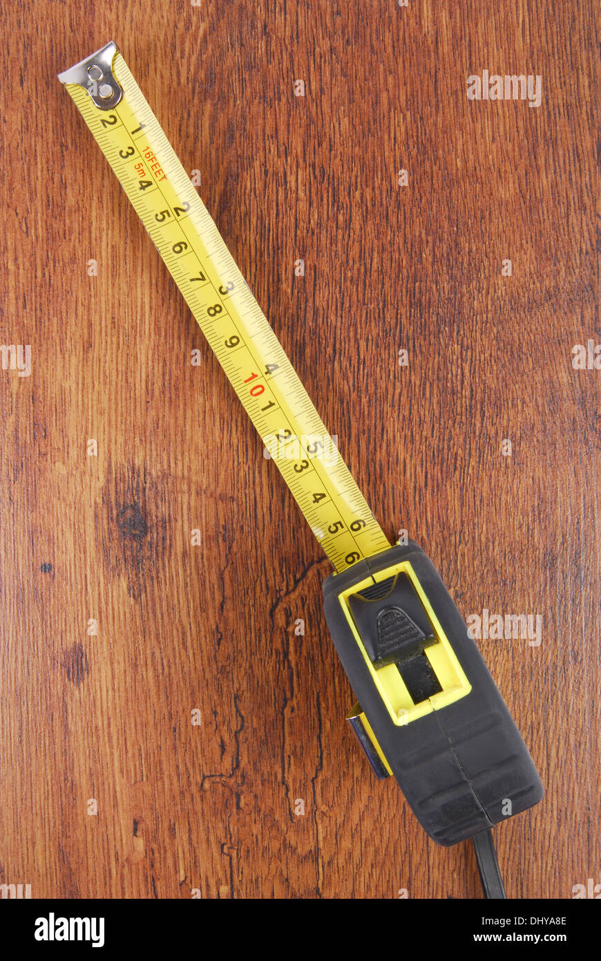 laminate and tape measure - Stock Image