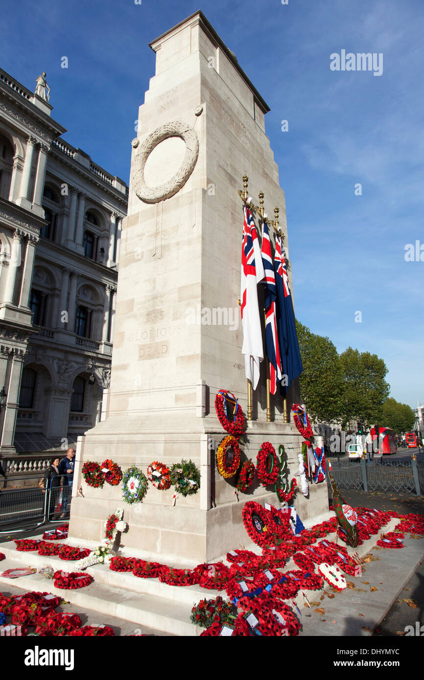 The Cenotaph, Whitehall, Westminster, London, - Stock Image
